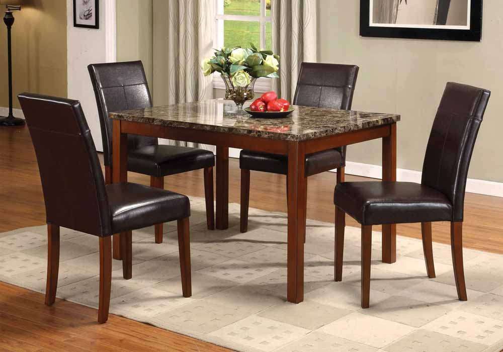 Contemporary 5 pcs Faux Marble Dining Table Top 4 Dining  : 06770 from www.ebay.com size 1000 x 700 jpeg 54kB