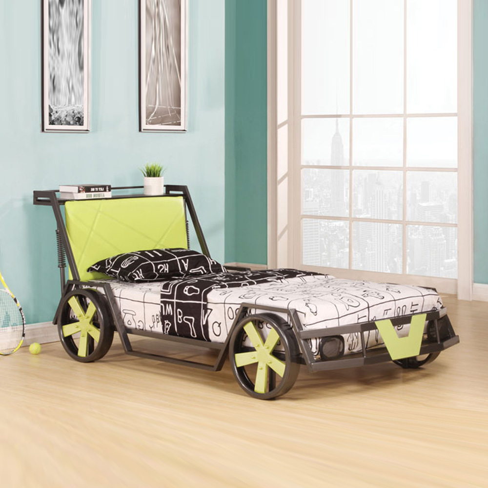Youth lovely cool gift kids boys children race car twin for Cool twin bed frames