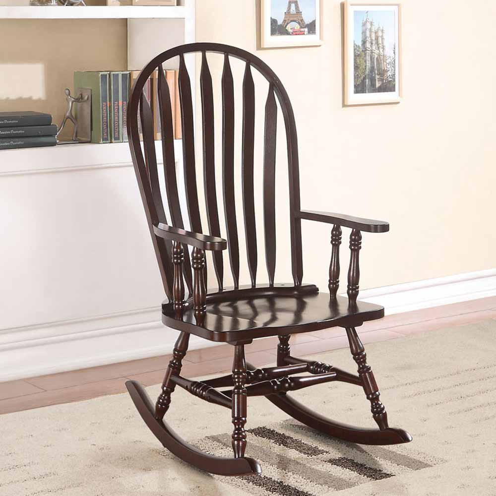 Kloris Collection Accent Living Room Wood Rocking Chair In