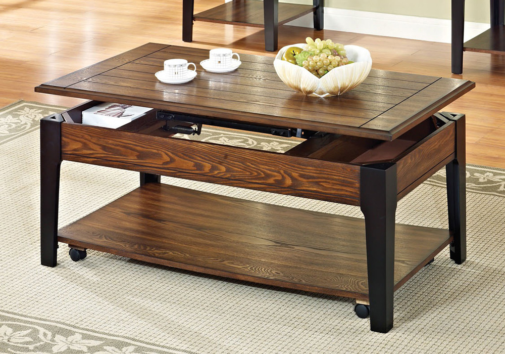 Functional Occasional Coffee Table w Lift Top Storage