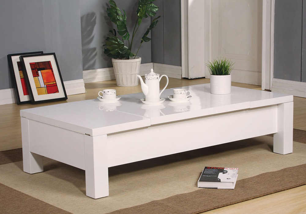 Morie modern functional occasional 2 side lift top coffee for Functional side table