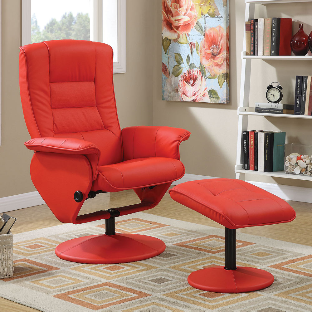Bedroom Chairs And Ottomans: Arche Living Room Comfort Recliner Lounger Chair Ottoman