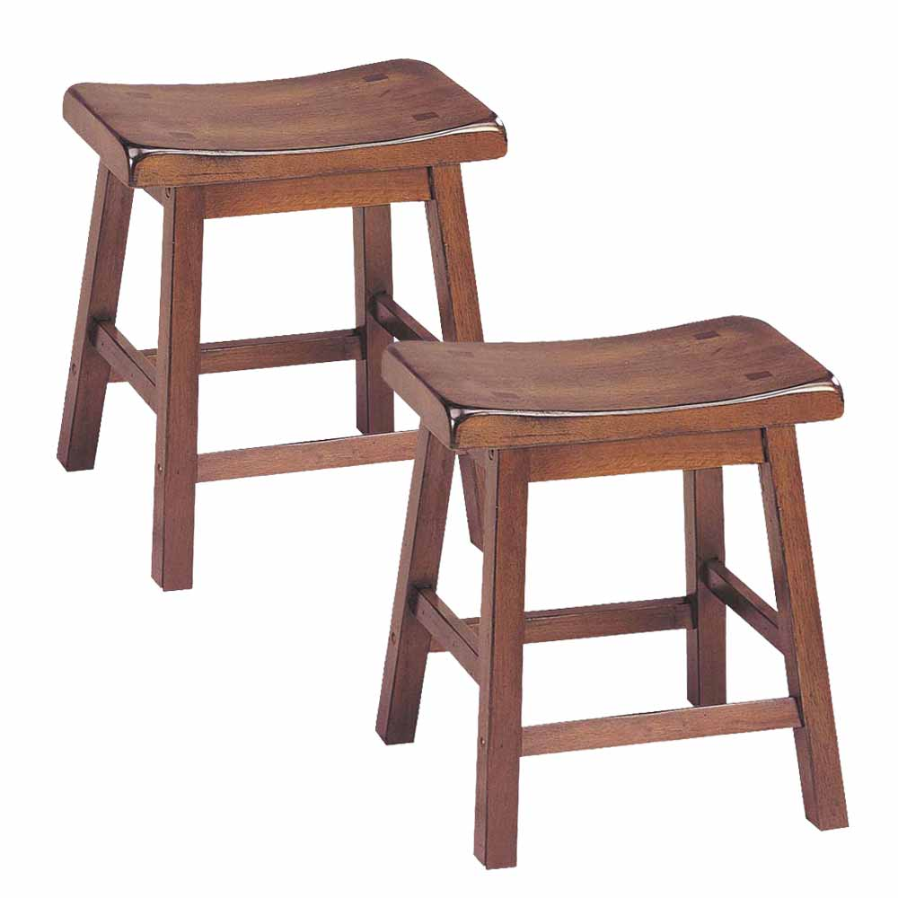 Gaucho Set Of 2 Kitchen Walnut 18 Quot H Height Bar Saddle