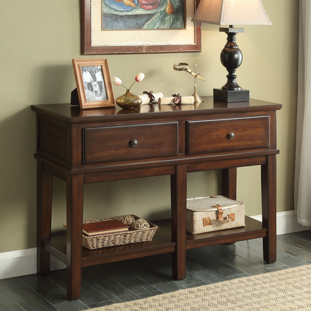 Orville Hallway Entryway Rectangular Console Sofa Table