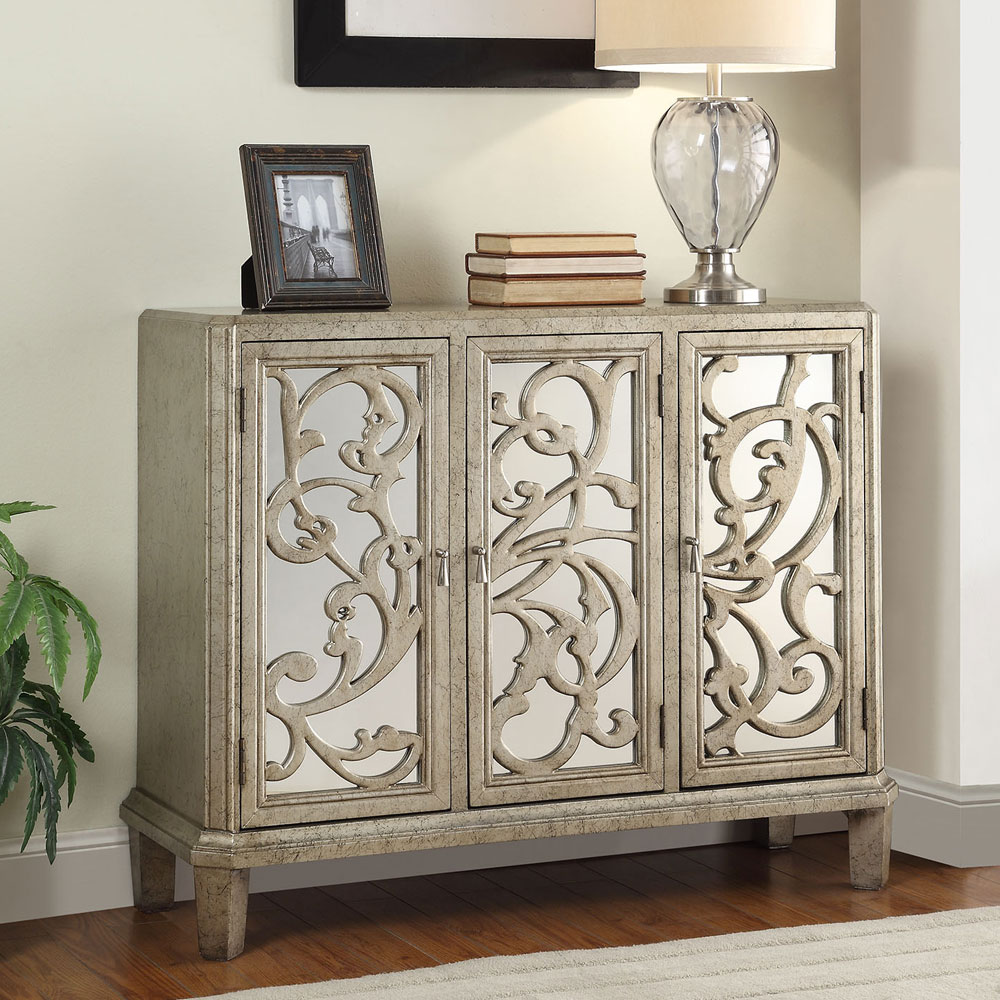 Foyer Chest With Mirror : Bailea modern hallway console sofa table cabinet chest