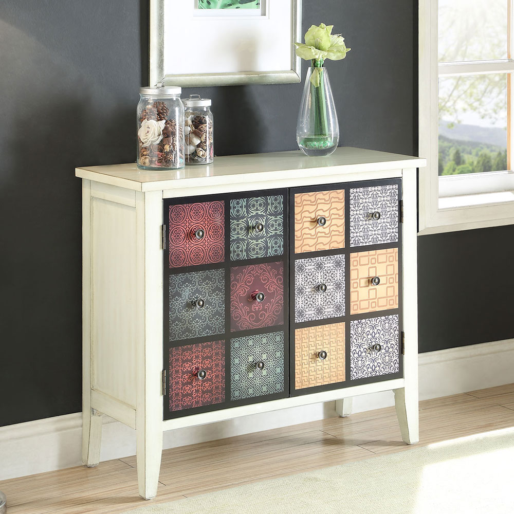 hallway console sofa table chest cabinet antique white door ebay