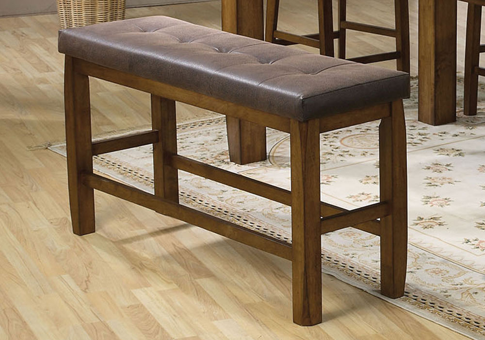 Morrison Counter Height Storage Dining Bench Tufted Lift