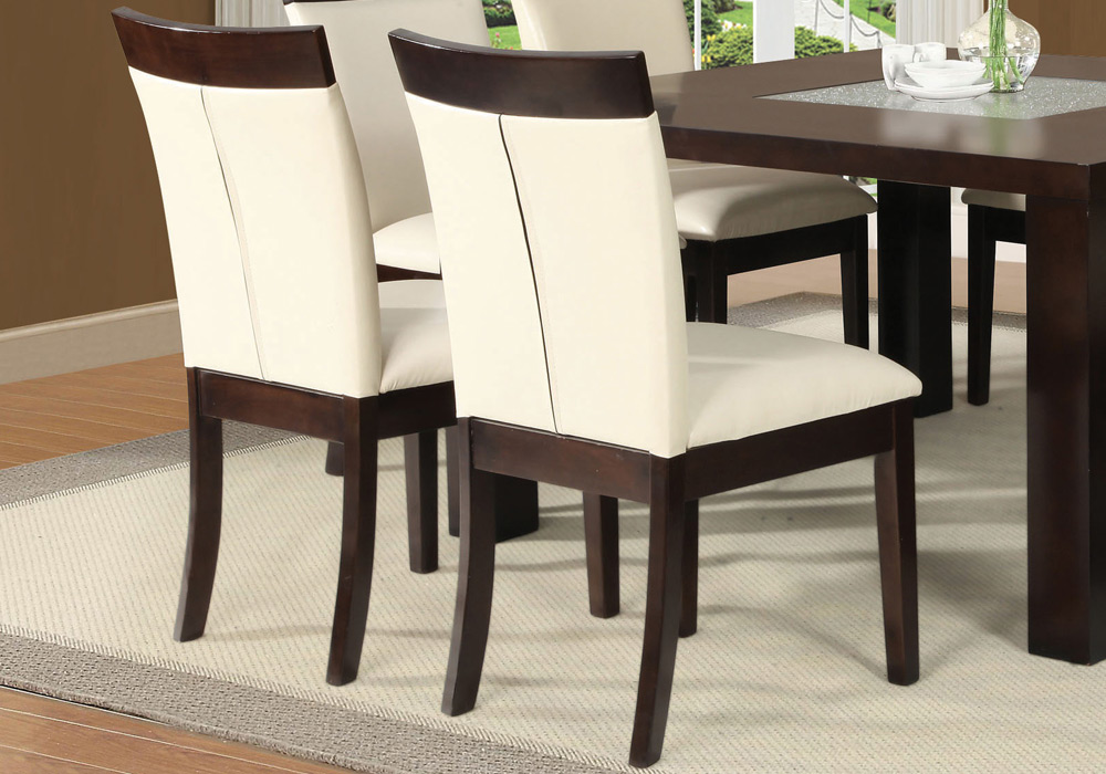 Keelin Set Of 2 Casual Dining Side Chairs Espresso Wood