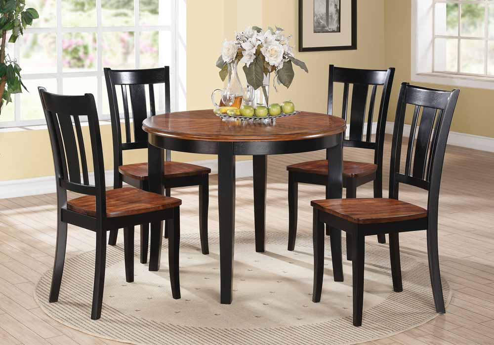 "Galan 5 Pc 40"" Dia Round Dining Table Set 18""H Side Chair"