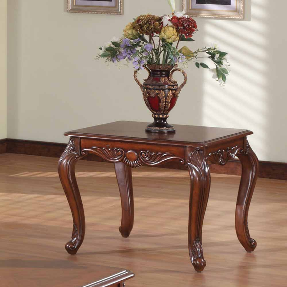 Birmingham Occasional Living Room End Side Table Carved Solid Wood Brown Cherry Ebay