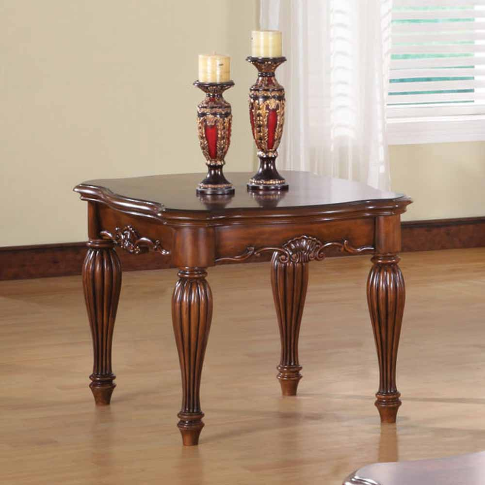 Dreena Occasional Living Room End Side Table Carved Solid