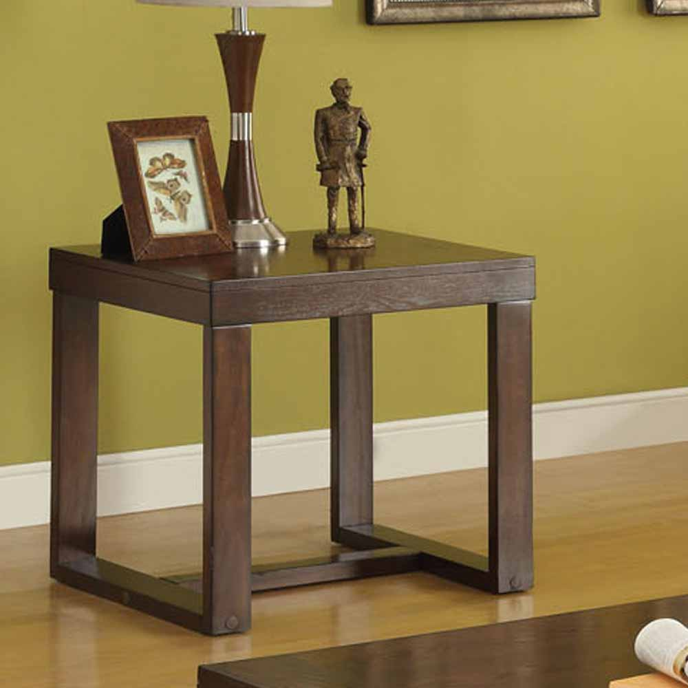 Marley Occasional Living Room Rectangular Clean Lines End Side Table Cherry