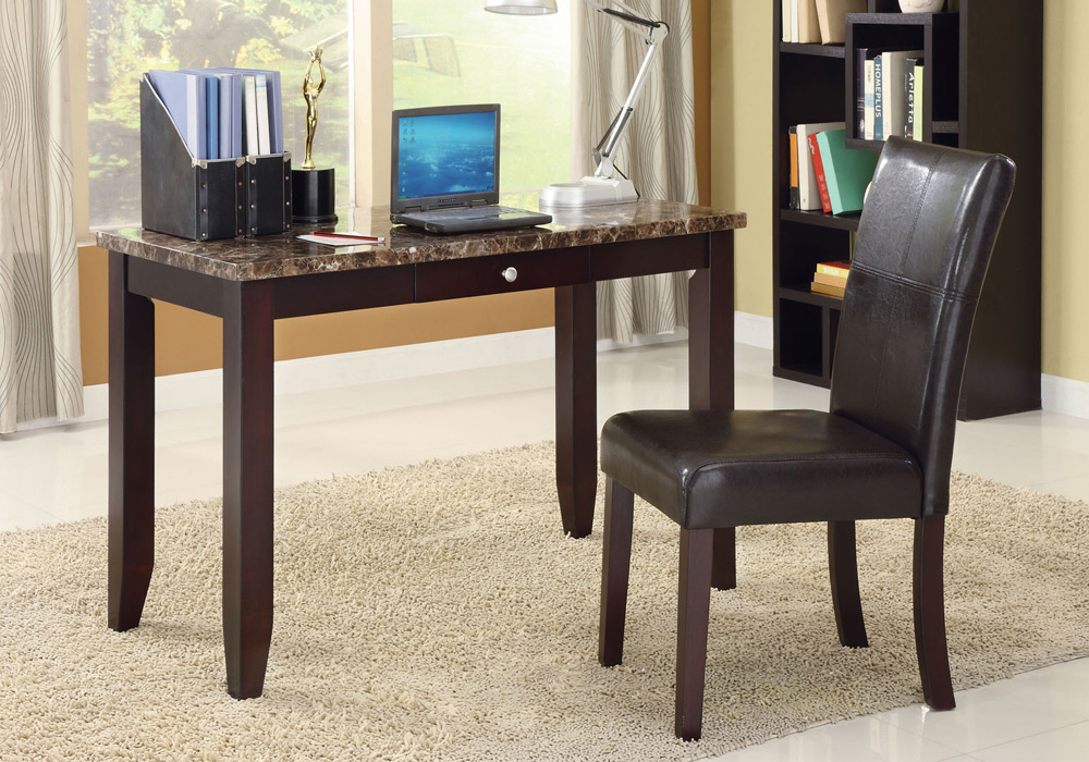 Marble Office Furniture ~ Sean pc home office writing computer faux marble top
