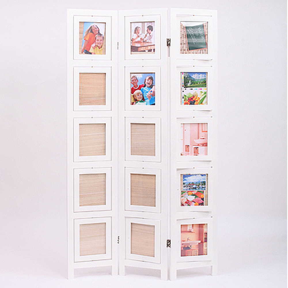 3 folding screen memories double sided photo picture frame - Room divider picture frames ...