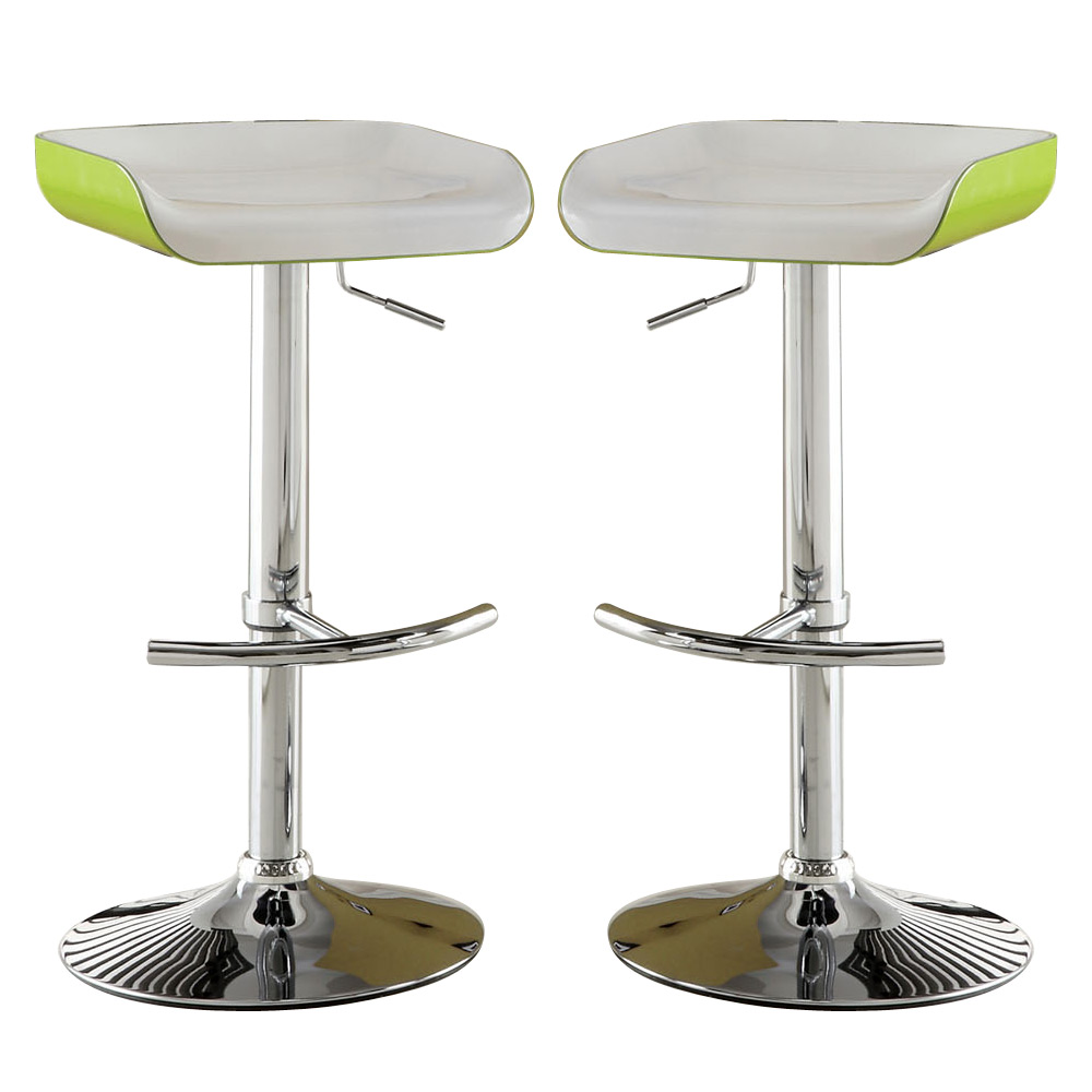 Green Kitchen Stools: Set Of 2 Modern Green Or Black Height Adjustable Home