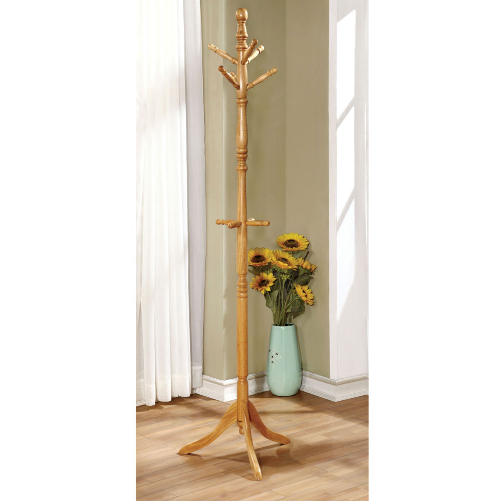 Putnam Classic Office Entryway Hallway Wooden Coat Rack ...
