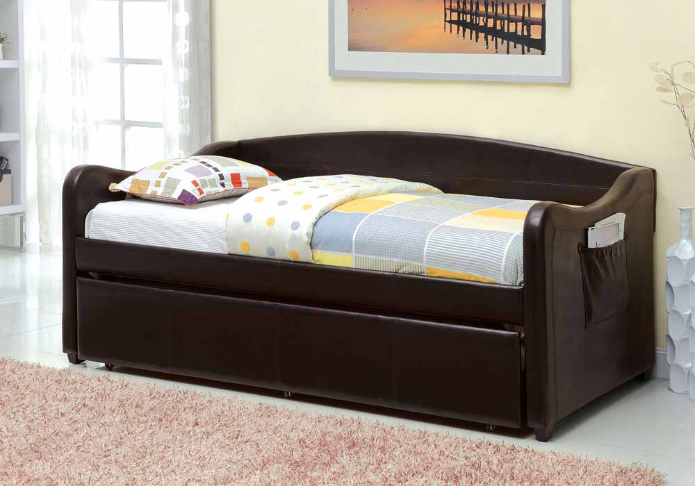Delta Contemporary Leatherette Platform Daybed Kids Youth