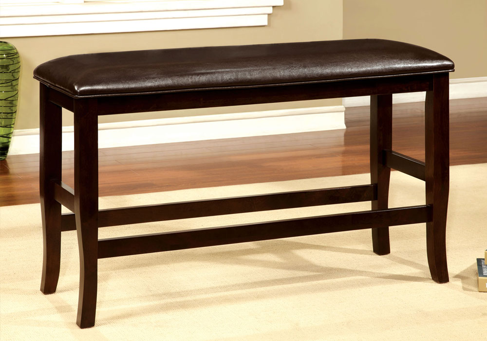 Woodside transitional counter height quot h dining bench