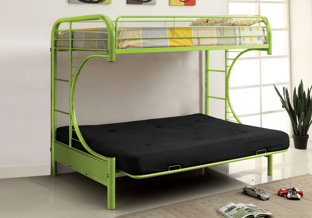 Twin Full Bunk Rainbow Color Bed