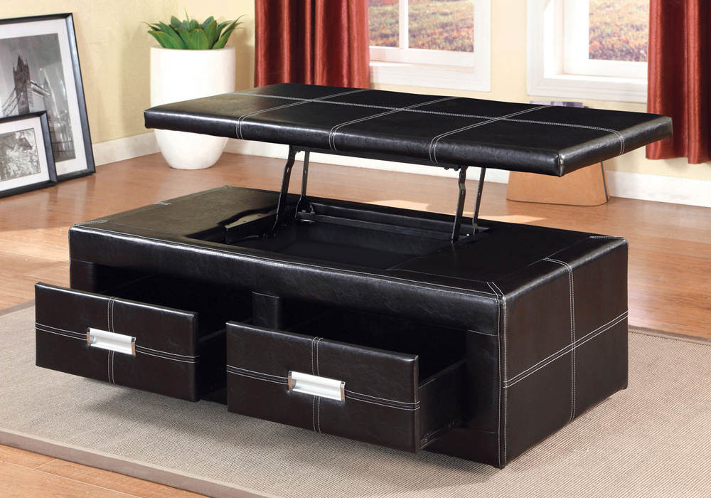 Ostel Contemporary Lift Top Storage Occasion Ottoman Bench Coffee Table Espresso Ebay