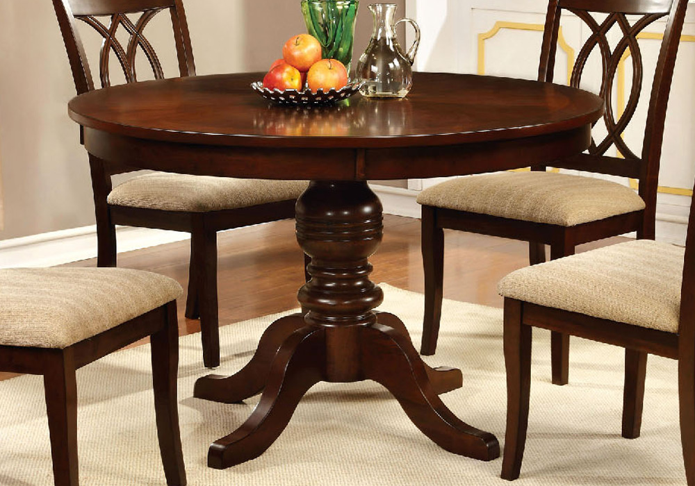 """Solid Wood Round Table Set: Carlisle Country 48""""D Round Pedestal Dining Table Solid"""