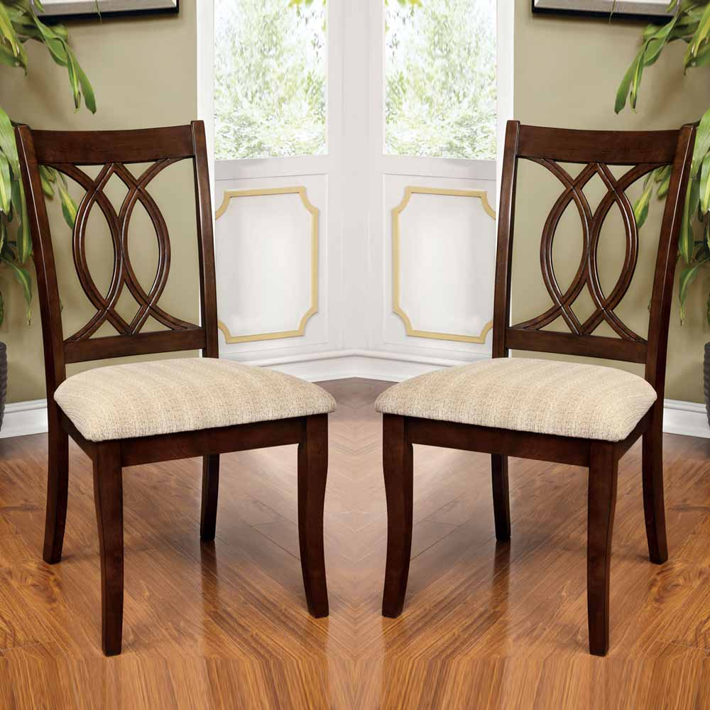 5pc Set Round Dinette Kitchen Table W 4 Microfiber: Carlisle Country Style 5 PC Dining Set Round Table W