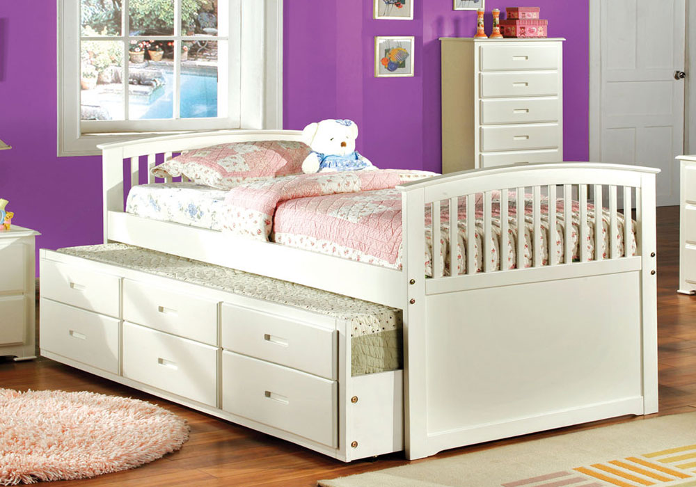 Mission bella youth kids full captain platform bed w twin for Kids twin bed with drawers