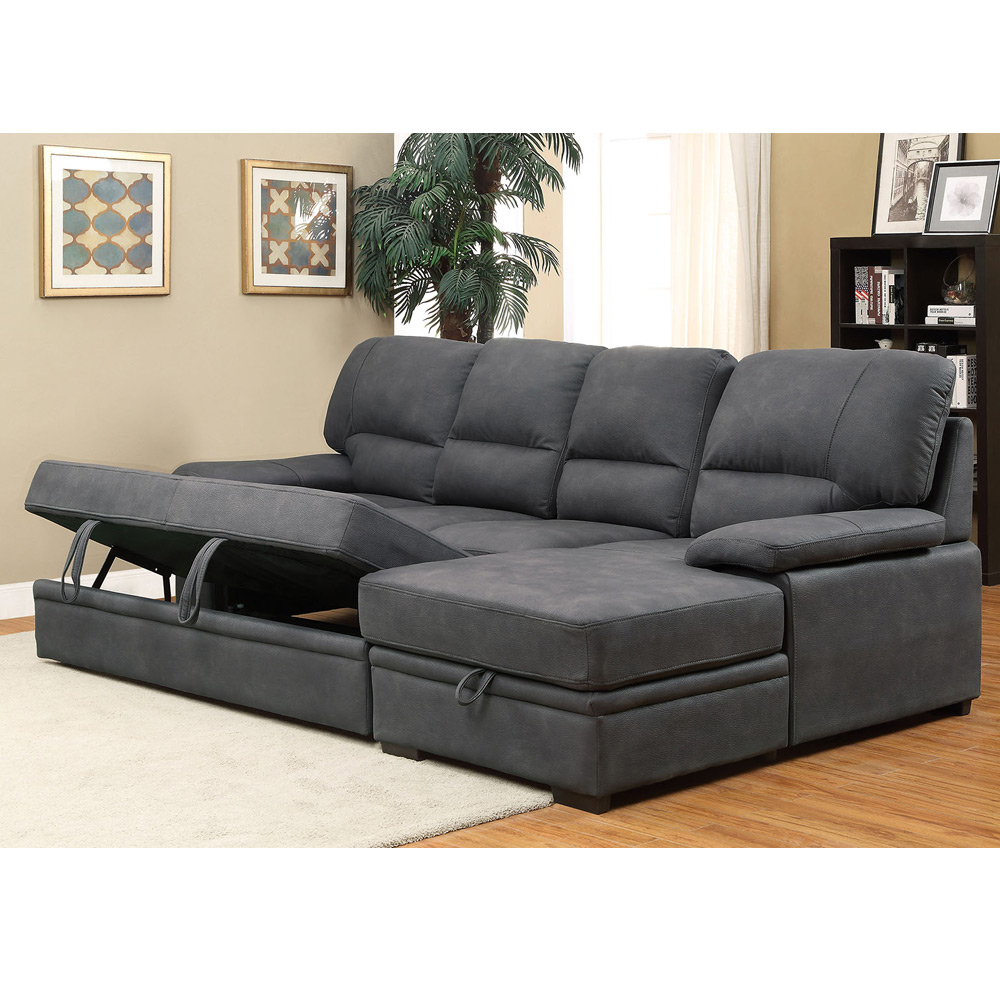 Alcester Sectional Sofa Pull-Out Sleeper Bed Chaise