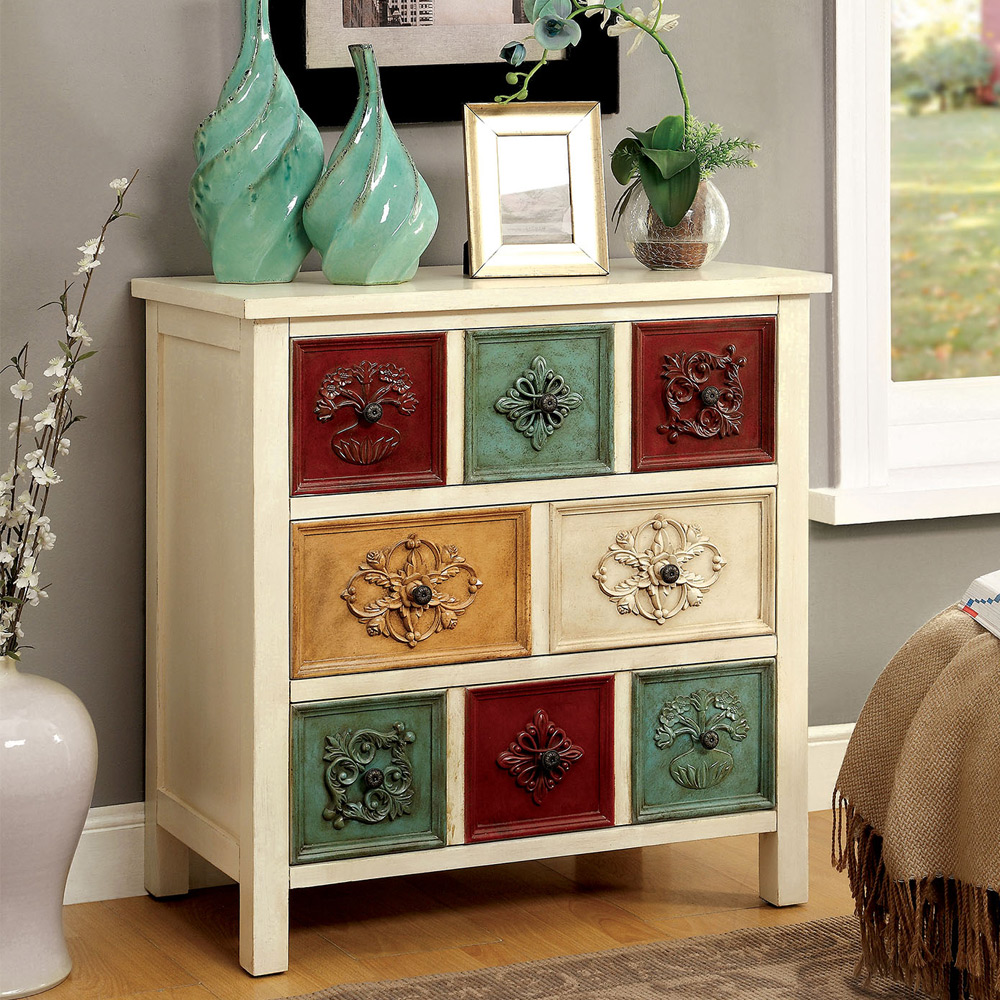 Foyer Cabinet With Drawers : Sheba hallway entryway console cabinet stand multi colored