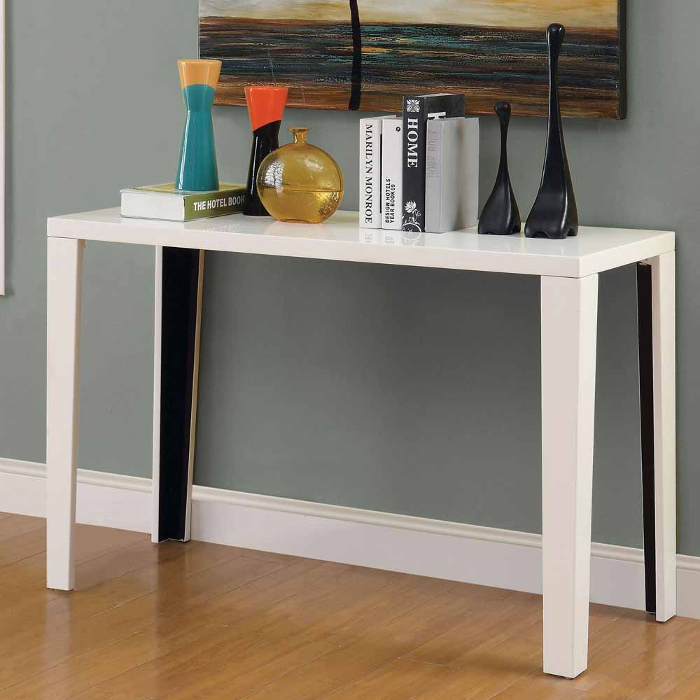 Lorri modern occasional simple style console sofa table for Modern white lacquer console table