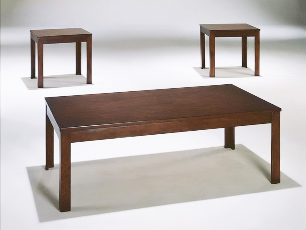 3 Pieces Modern Rectangular Cocktail Coffee End Side Table Stand Set Dark Cherry Ebay