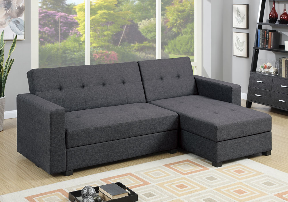 Reversible Adjustable Sofa Chaise Flip Up Under Seat