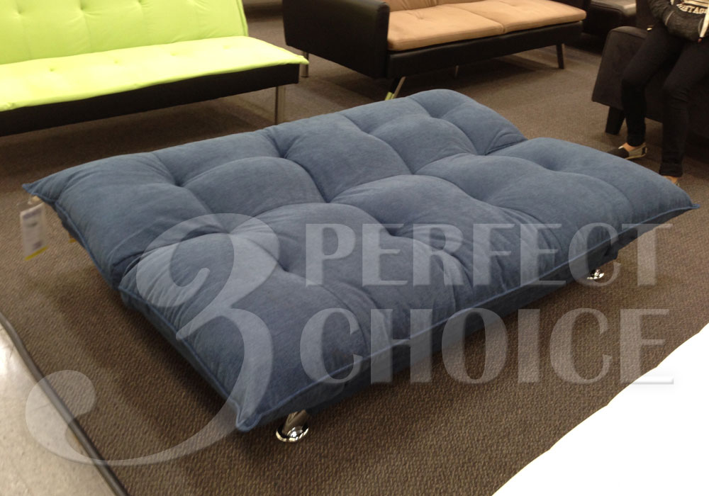 plush comfort pillow style adjustable sofa bed sleeper flip up arm navy blue ebay. Black Bedroom Furniture Sets. Home Design Ideas