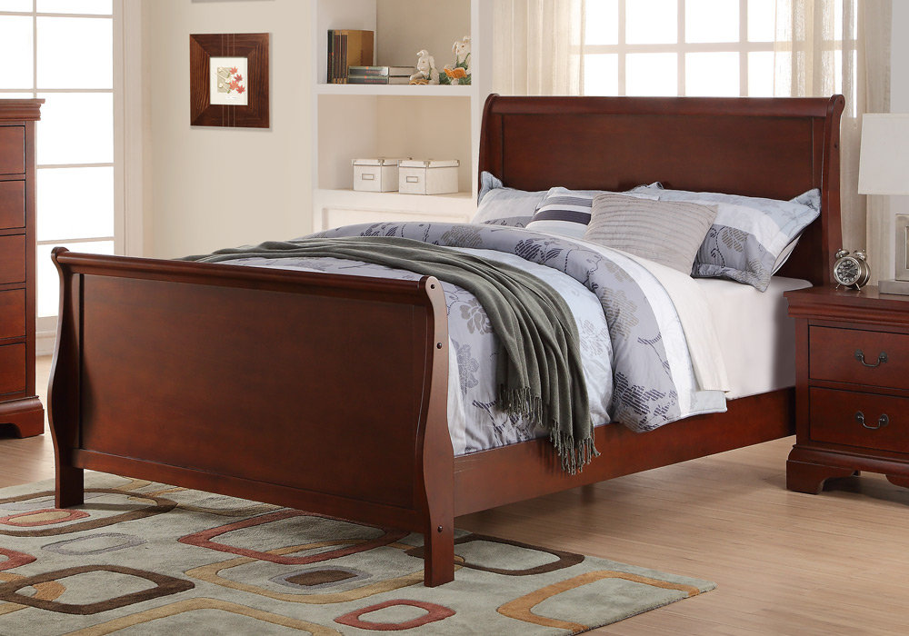 details about kids youth bedroom twin full sleigh bed curved headboard