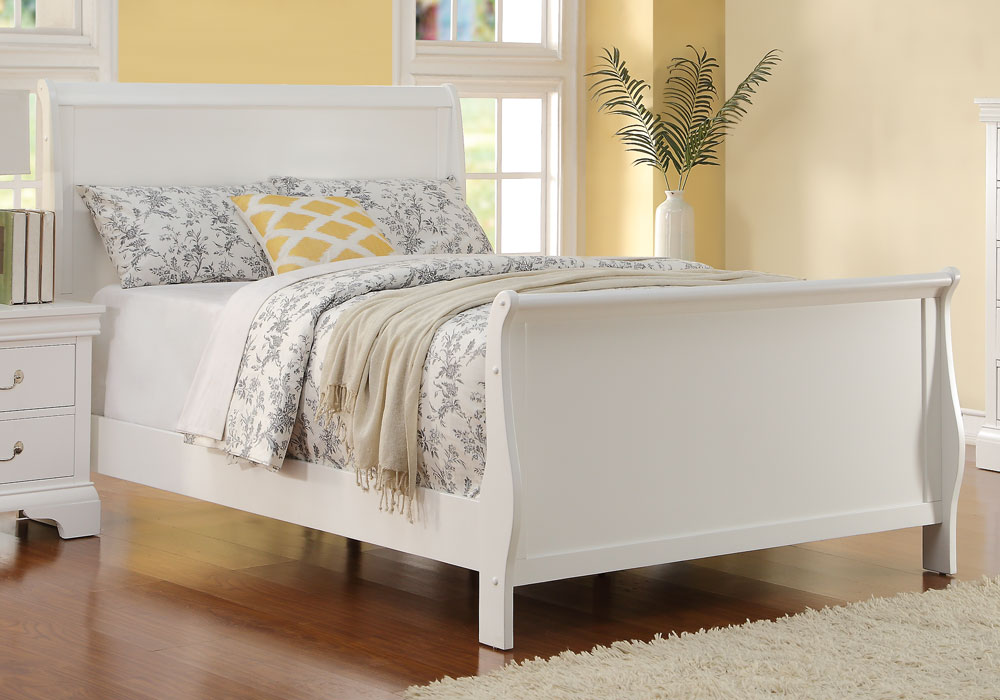 Kids Youth Bedroom Twin Full Bed Curved Headboard