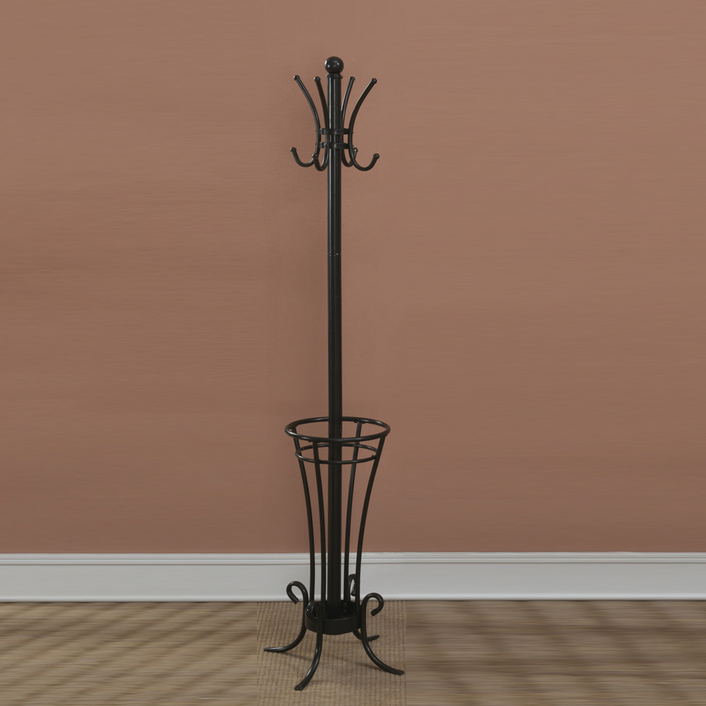 Traditional Umbrella Stand: Traditional Hallway Entryway Coat Rack Hat Holder Hook