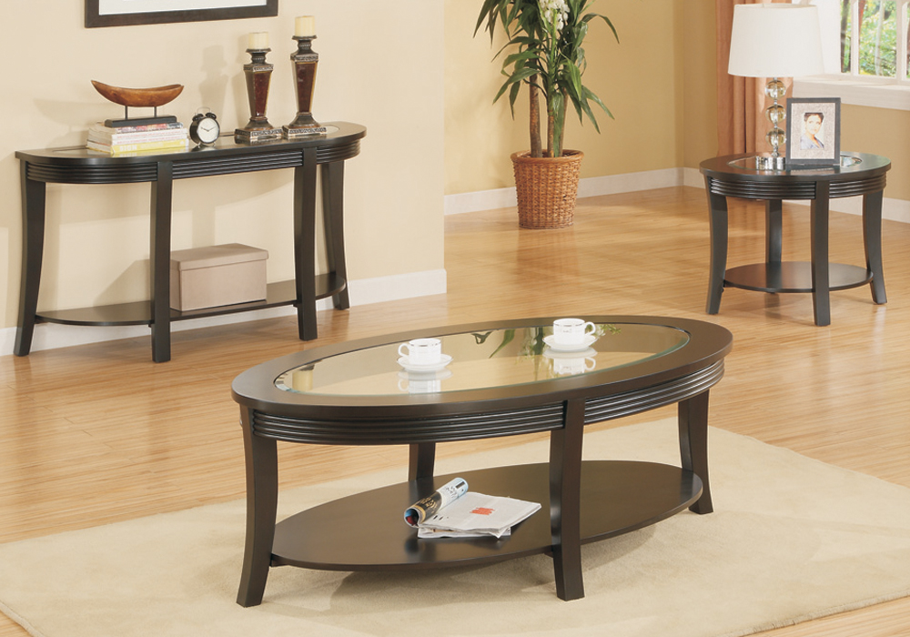 terrific living room coffee table sets | Living Room Countertop Coffee End Console Table Glass ...