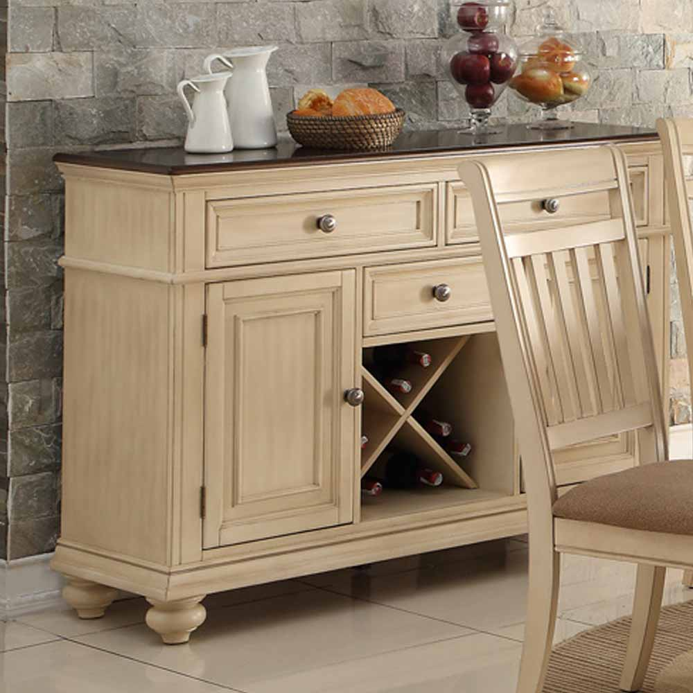 Dining Display Storage Buffet Server Wine Rack Drawer Cabinet Wood