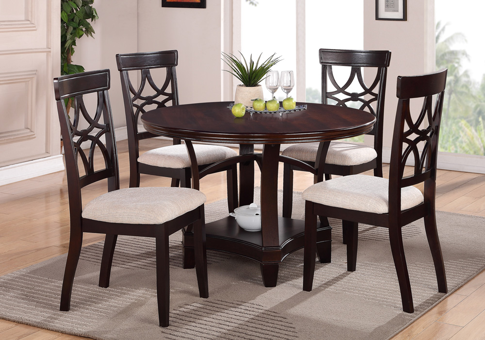 contemporary formal dining round table set built in lazy susan fabric