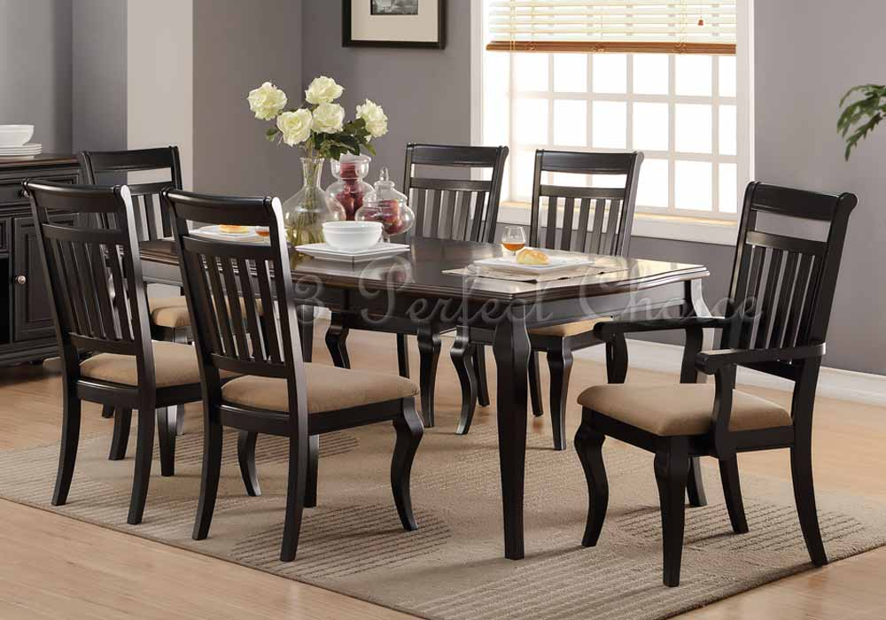 Set of 2 Formal Dining Side Chairs Upholstered Seat Panel ...