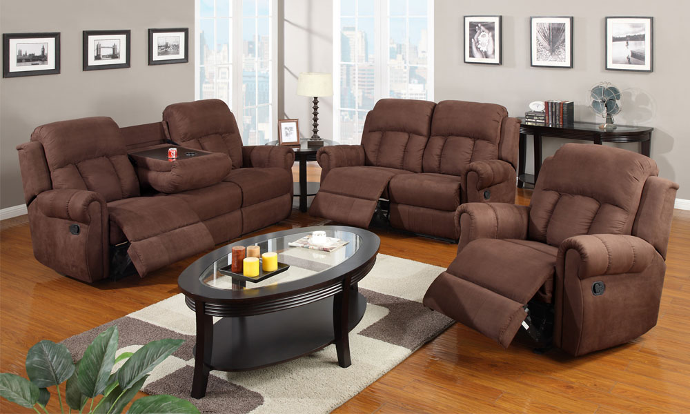 3pc Modern Rocker Recliner Sofa Cup Holder Couch Loveseat  : F7048 49 50 from www.ebay.com size 1000 x 600 jpeg 112kB