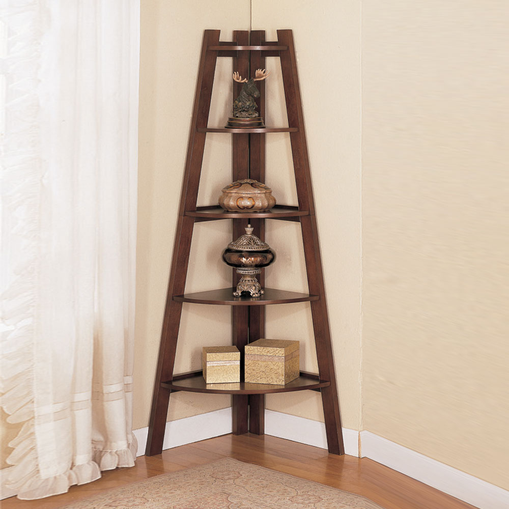 Corner Exhibition Stands S : Stylish wooden corner rack wall display shelves bookcase