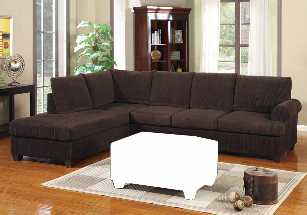 2 Pc Modern Reversible Chaise Sectional Sofa Couch