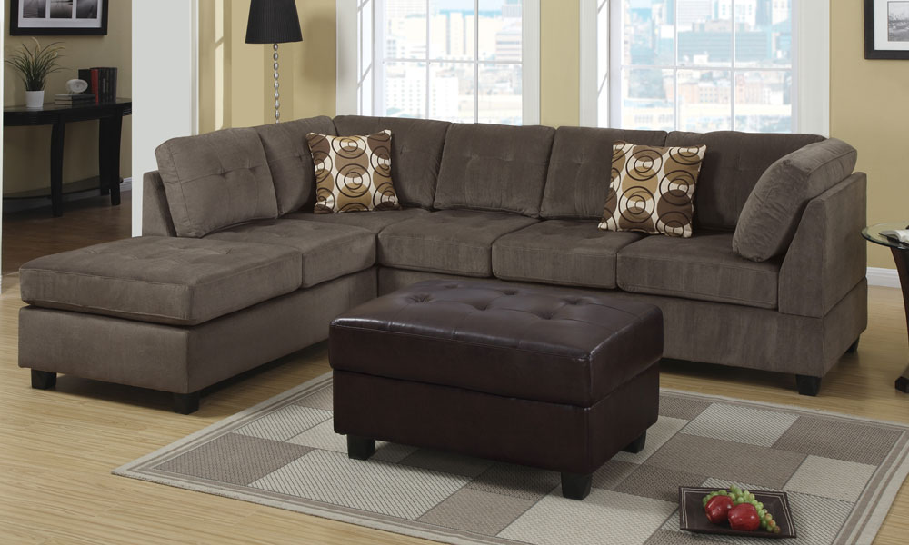 Chic Modern 2 Pieces Sectional 3 Seat Sofa Couch ...