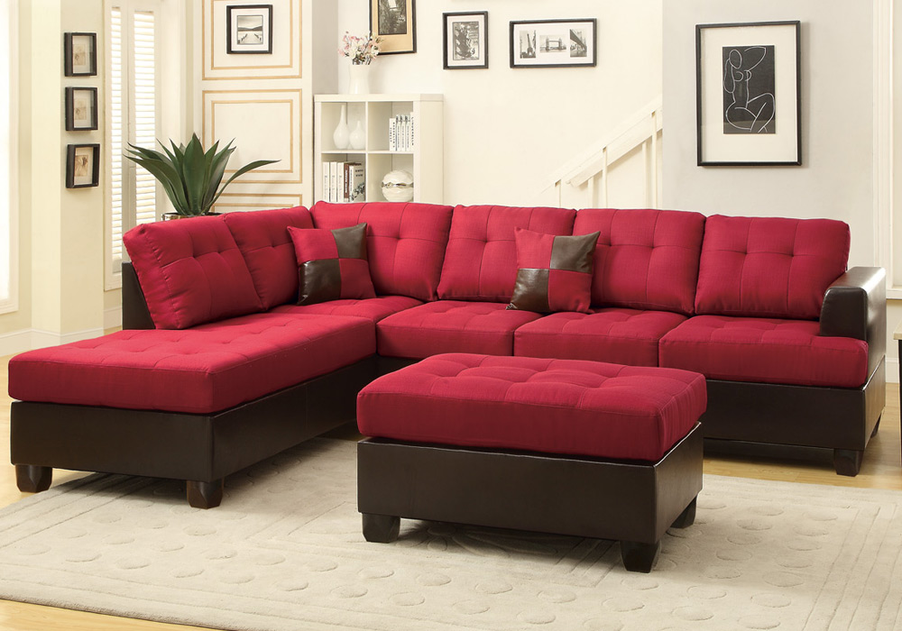 Sofa With Reversible Chaise Lounge 3 Pcs Large Living Room Reversible  Sectional Sofa Chaise