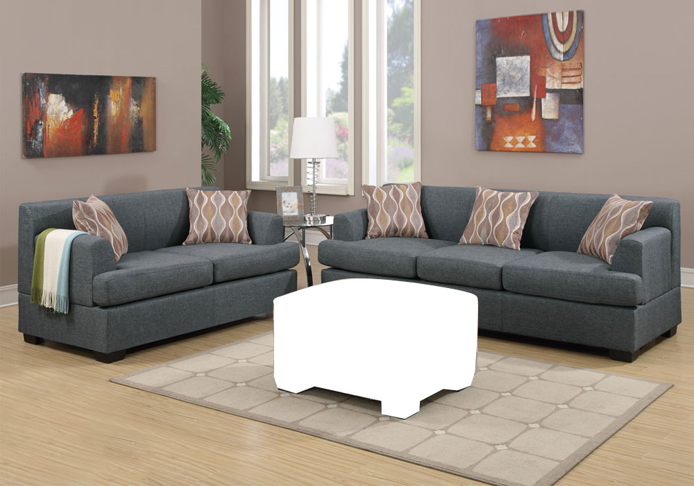 Bobkona Sectional Reversible Chaise Sofa Loveseat Couch