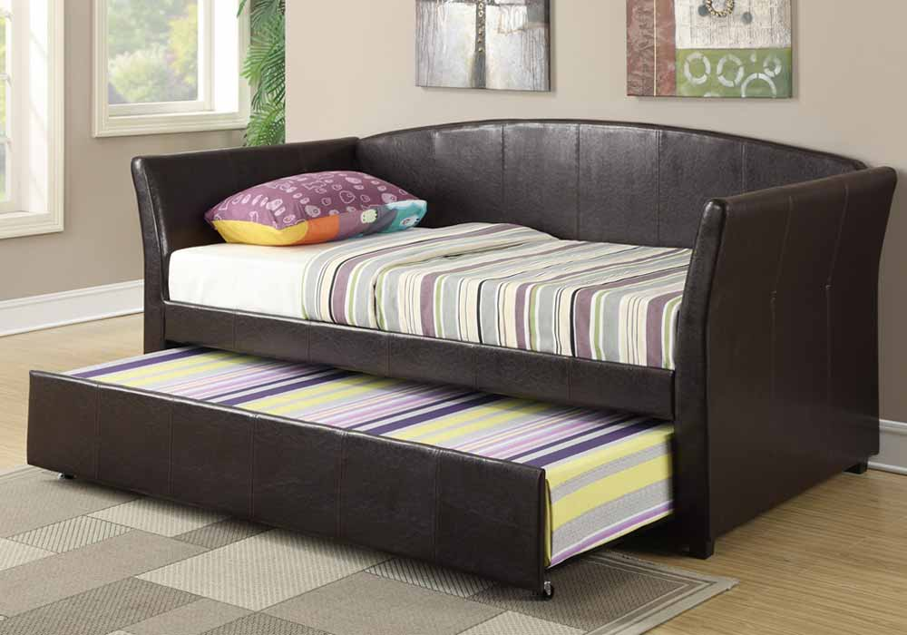 Modern Guest Daybed Day Bed Sleepover Twin Size W Trundle