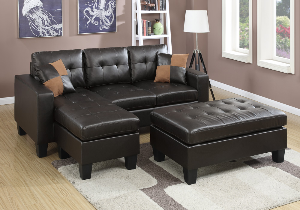 NEW Reversible L Sectional Sofa Chaise Tufted XL Ottoman ...