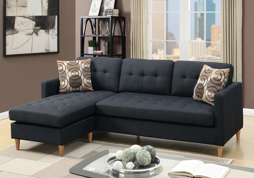 Small Living Room Reversible Sectional Sofa Couch Chaise ...