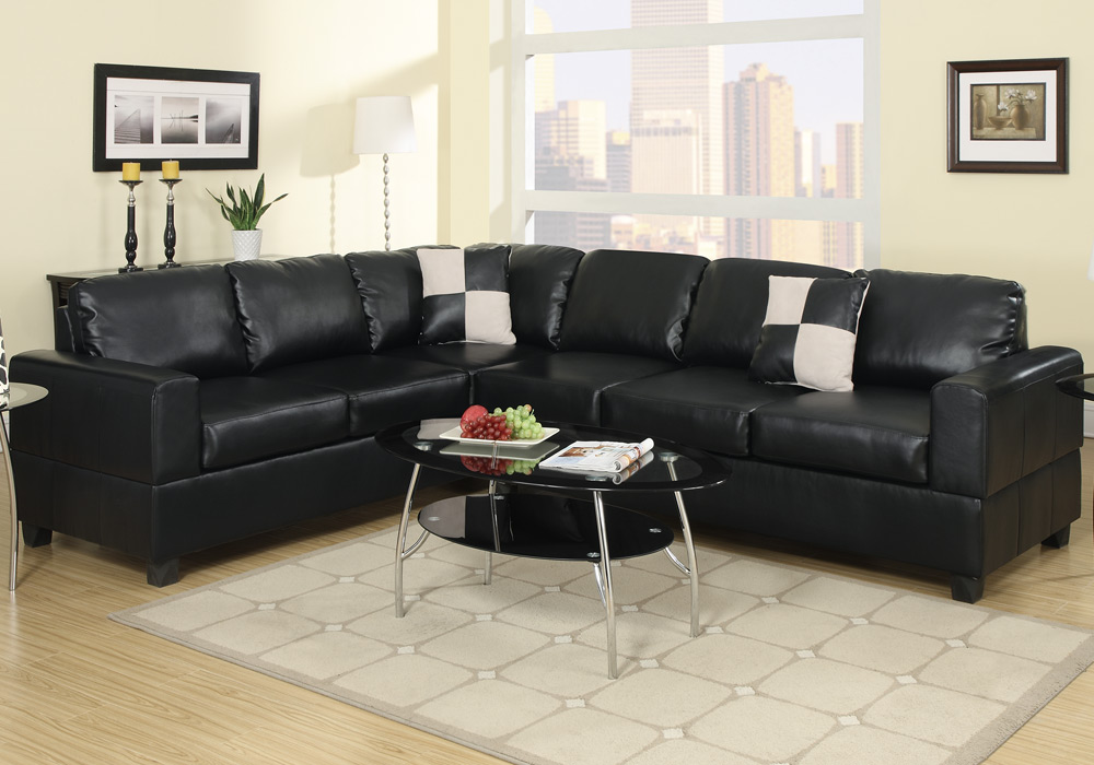 2 pc Microfiber Faux Leather Reversible Sectional 3 Seat Sofa Loveseat Couch Set 2